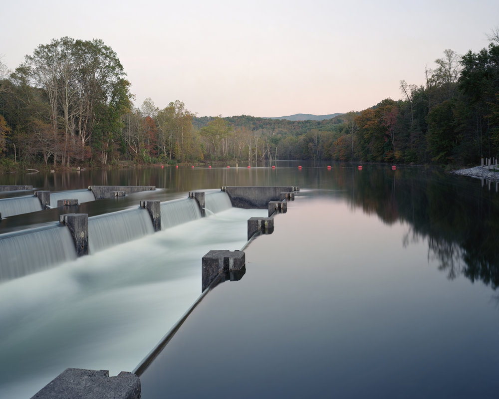 """""""Weir Dam, South Fork Holston River, Bristol, Tennessee"""" 2012  © Jeff Rich    This structure is used to reintroduce oxygen back into the river after it is depleted behind South Holston Dam."""