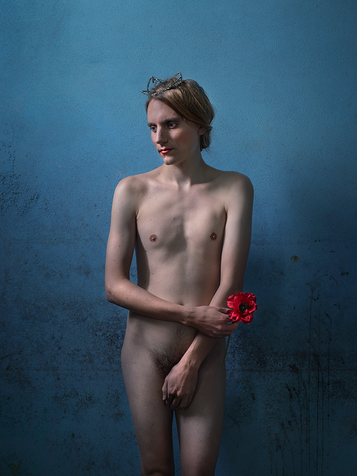 "Image: © Lissa Rivera, ""Nude with Poppy,"" 2017, Archival pigment print, Courtesy of ClampArt, New York City"
