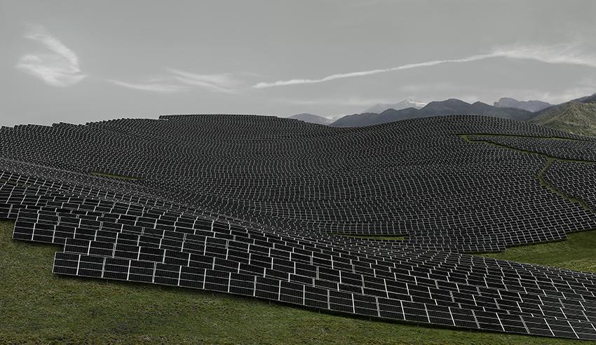 Andreas Gursky, Les Mées, 2016. ©Andreas Gursky /DACS, 2017.