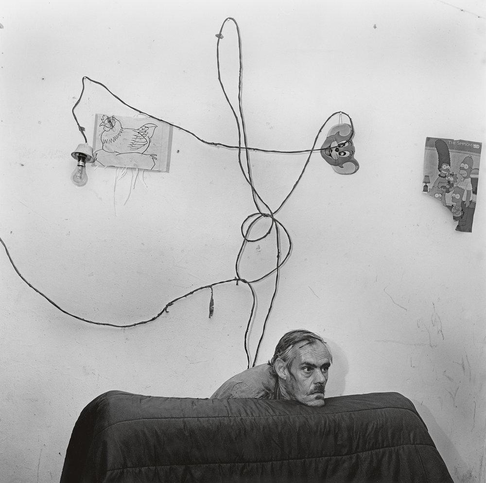 Head Below Wires , 1999 © 2017 Roger Ballen
