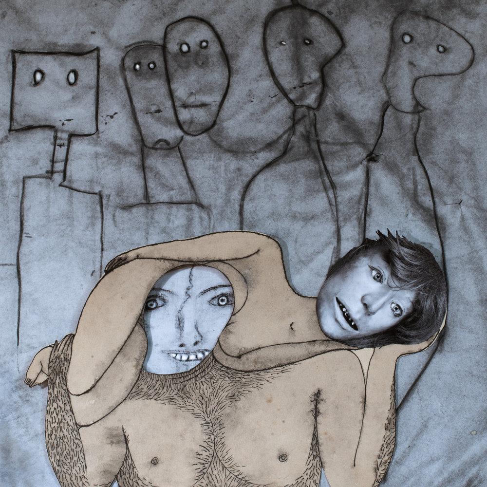 Hug , 2016  © 2017 Roger Ballen  Collaboration with Hans Lemmen