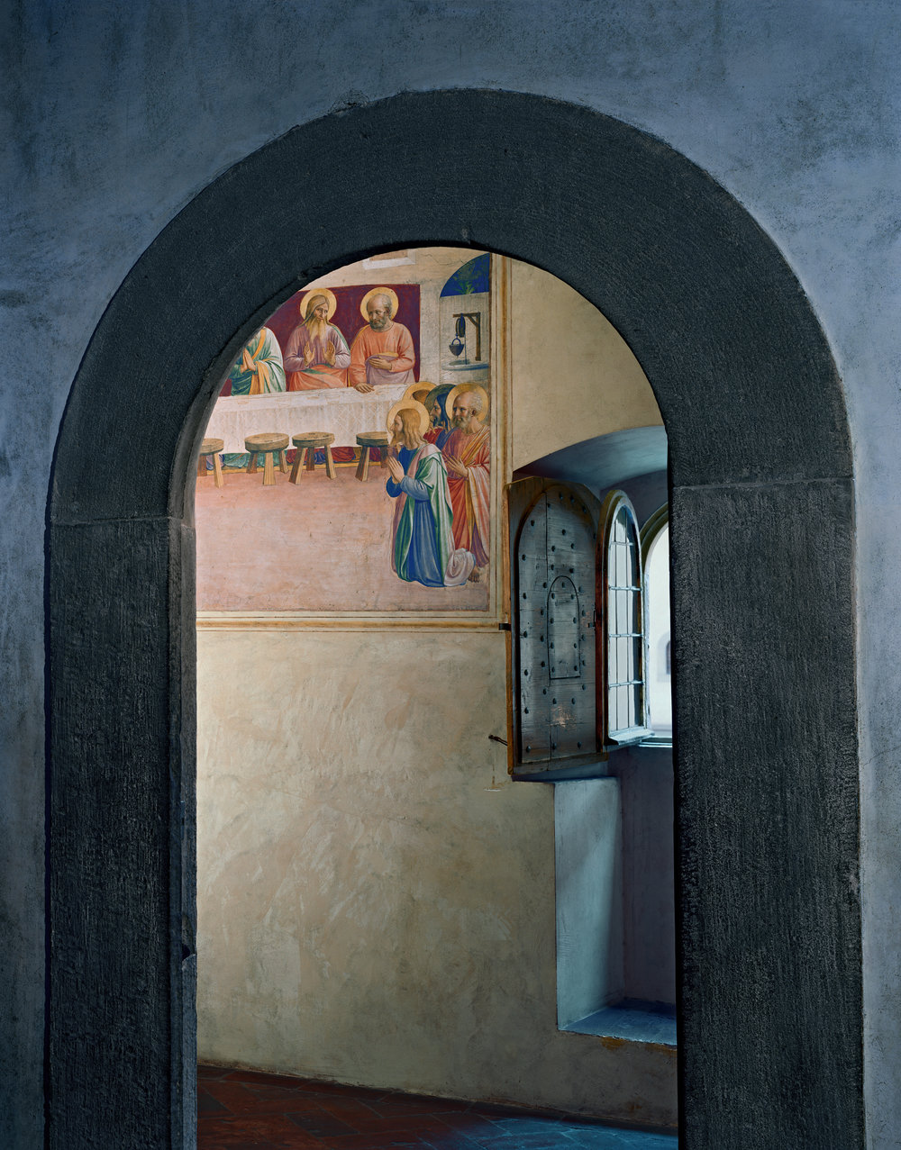 The Last Supper, or Communion of the Apostles by Fra Angelico, Cell 35, Museum of San Marco Convent, Florence, Italy, 2010 © Robert Polidori, Courtesy of Paul Kasmin Gallery