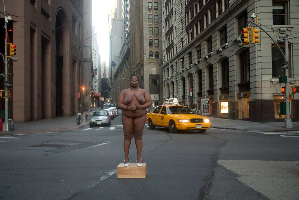 Nona Faustine  From Her Body Sprang Their Greatest Wealth, Wall St., 2013  Courtesy Steven Kasher Gallery, New York
