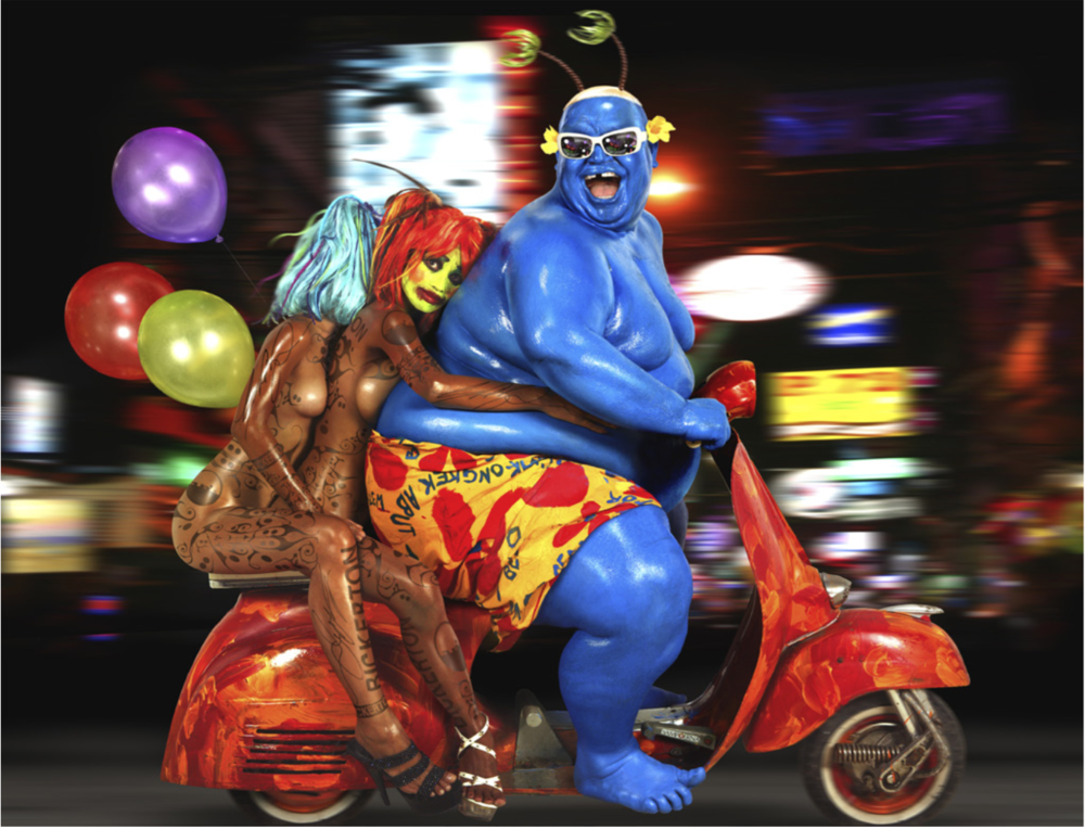 Neon Scooter   ©  Ashley Bickerton