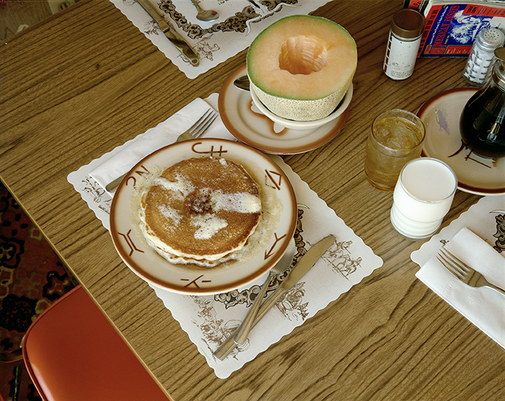 Stephen Shore.  Breakfast, Trail's End Restaurant, Kanab, Utah, August 10, 1973 . 1973. Chromogenic color print, 16 7/8 × 21 1/4″ (42.8 × 54 cm). The Museum of Modern Art, New York. Purchase. © 2017 Stephen Shore