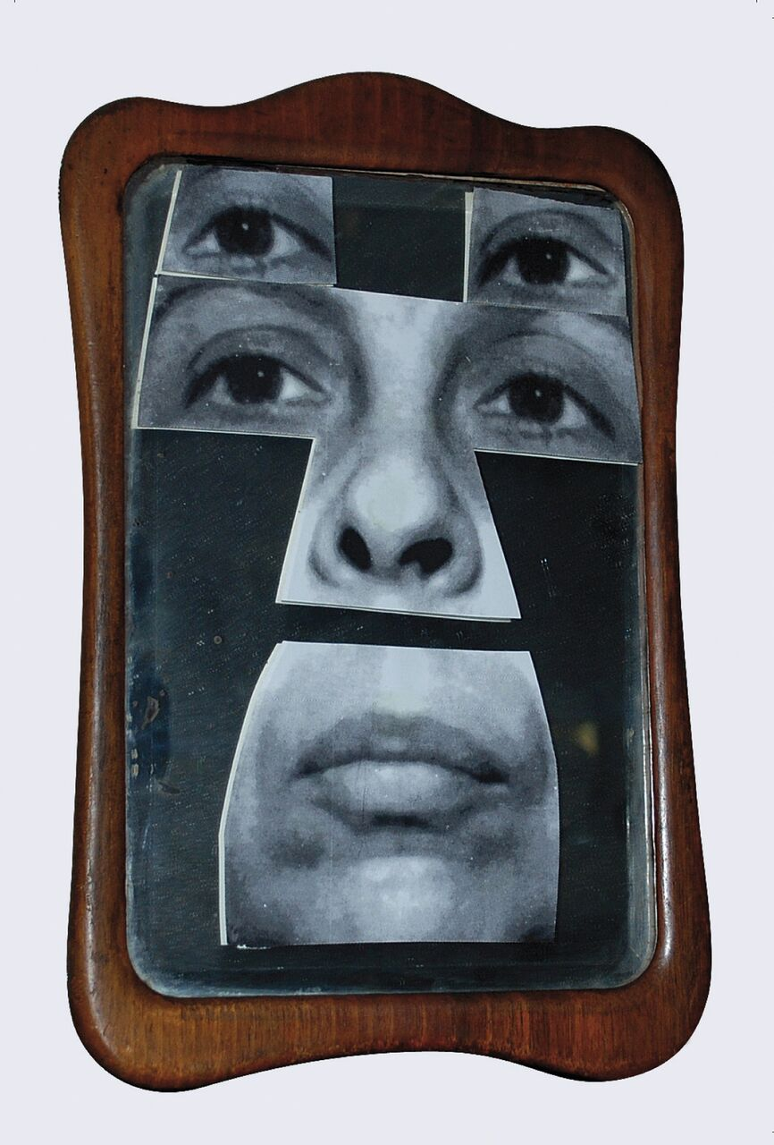 Geta Brătescu, Autoportret în oglindă [Self-Portrait in the Mirror],2001. © Geta Brătescu, Courtesy the artist; Ivan Gallery, Bucharest; Hauser & Wirth. Photo: Ștefan Sava.