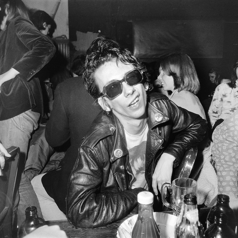 Stiv Bator Punk Snear CBGB. April 1977  by Meryl Meisler  Courtesy of The Living Gallery Outpost and Steven Kasher Gallery