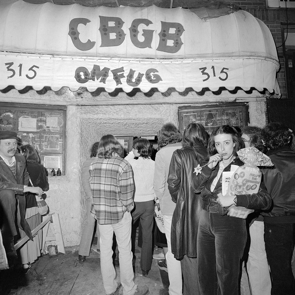 A Flower Outside CBGB OMFUG, April 1977    by Meryl Meisler Courtesy of The Living Gallery Outpost