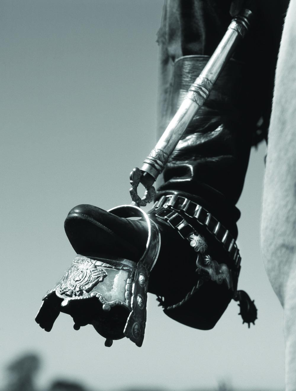 Detail of a silver knife sheath, made by silversmith Juan Carlos Pallarols, Buenos Aires.Photo by ©Aldo Sessa.
