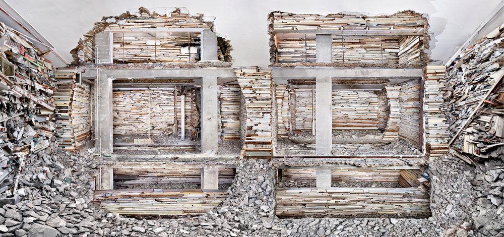 Marjan Teeuwen,  Destroyed House Piet Mondriaanstraat 1 , 2011.