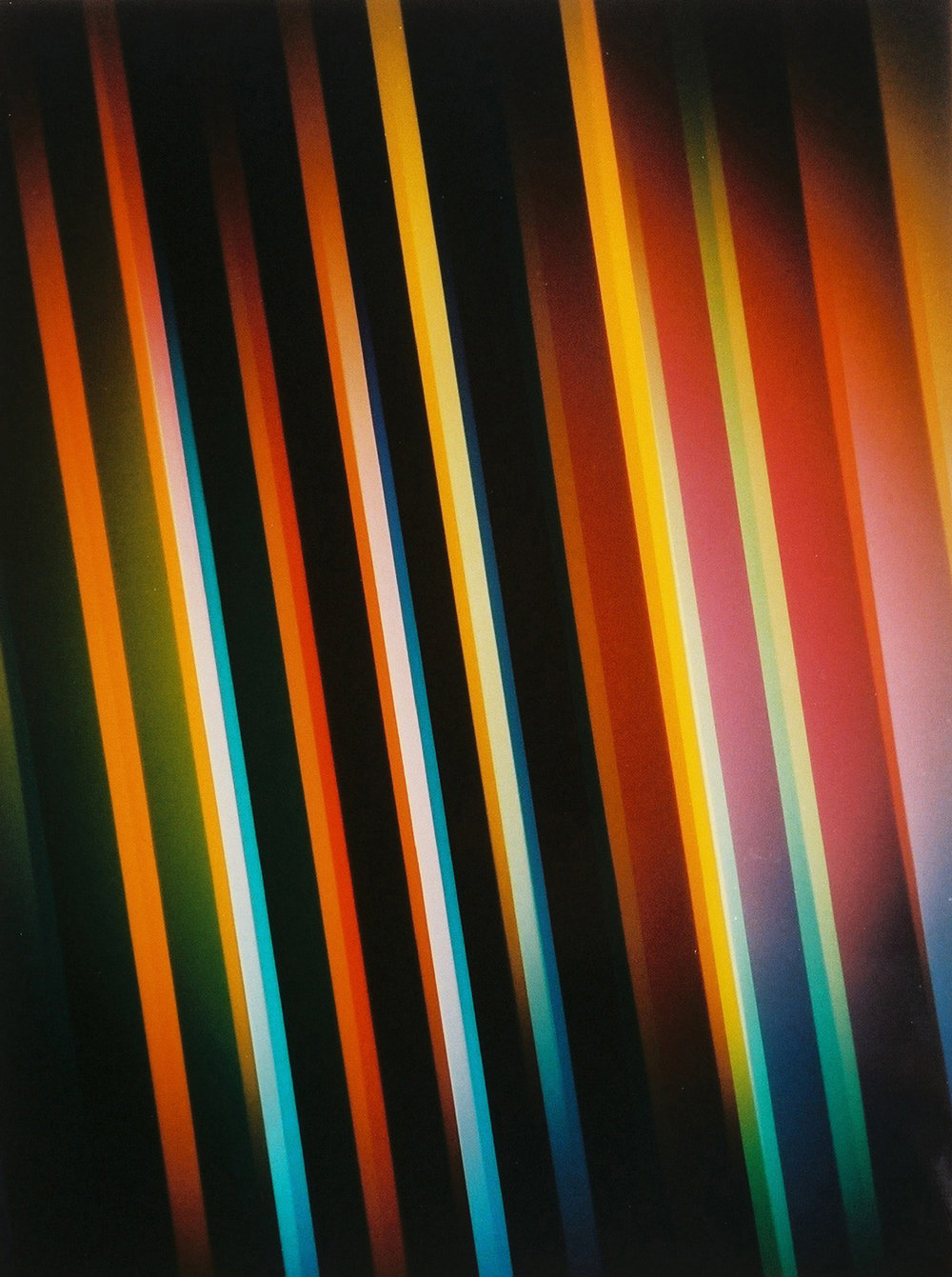 "Luminogram, XVII.2, From Series ""Color Systems"", 1981 ©Gottfried Jäger"