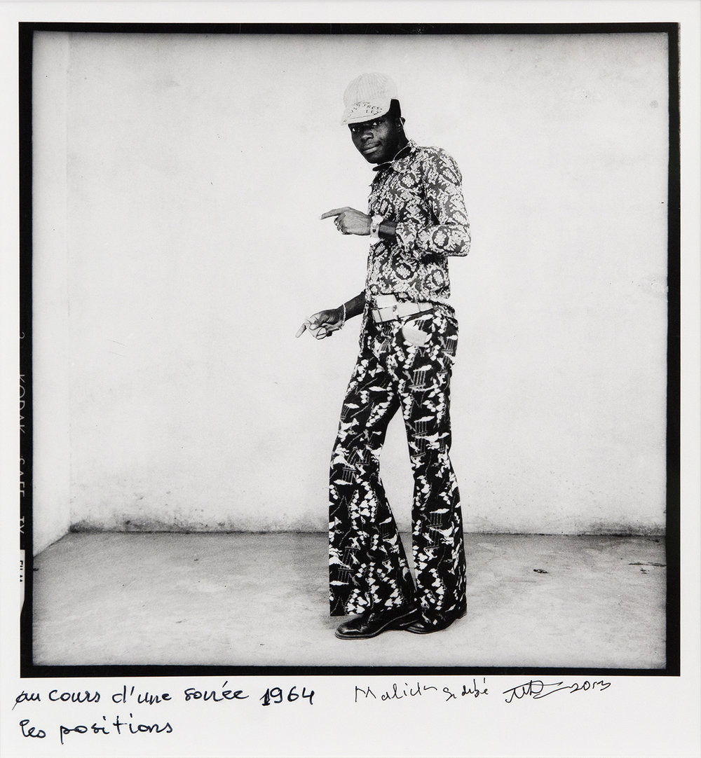 Au cours d'une soirée, les positions , 1964/2013, silver gelatin print, 8 1/4 x 8 1/4 inches image size, 12 x 9 1/2 inches paper size, signed, titled, and dated on front. Image courtesy Jack Shainman Gallery.