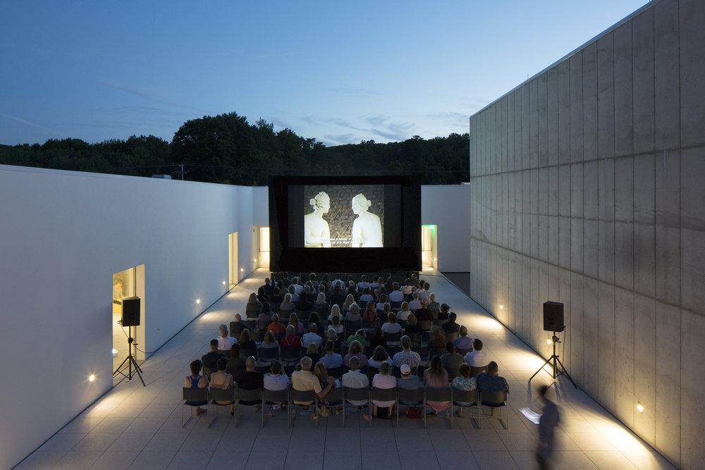 Magazzino Cinema in Piazza July 20, 2018. 'Giulio Paolini,' 2005, dir. Alessandra Populin. Photo by Alexa Hoyer © 2018