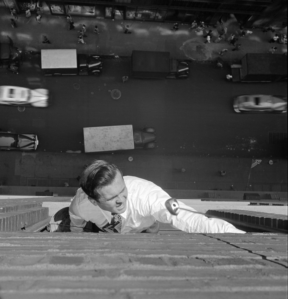 """Stanley Kubrick, From """"Johnny on the Spot: His Recorded Adventures Mirror the New York Scene,"""" 1946© SK Film Archives, LLC/Museum of the City of New York"""