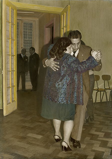 Leonora Vicuna (Chili, née en 1952) Buenos Aires Tango Club, Santiago, 1981, 1981