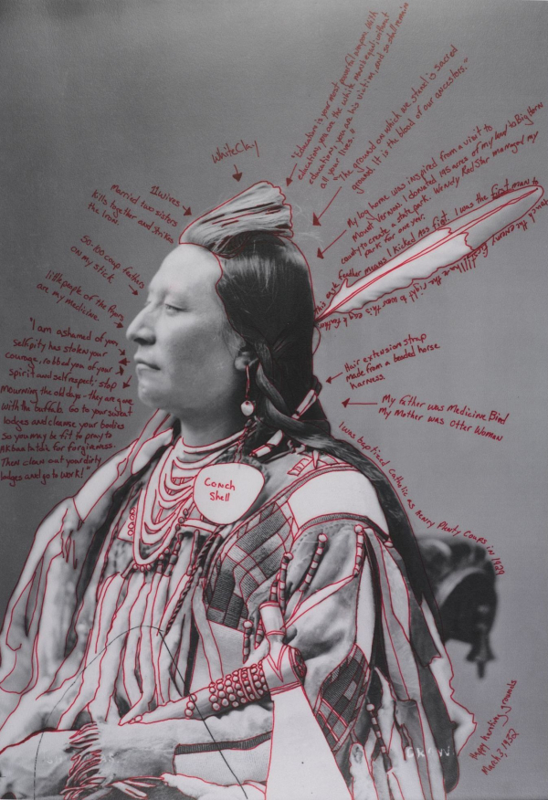 Wendy Red Star (Apsáalooke (Crow), born 1981).  Alaxchiiaahush / Many War Achievements / Plenty Coups,  2014