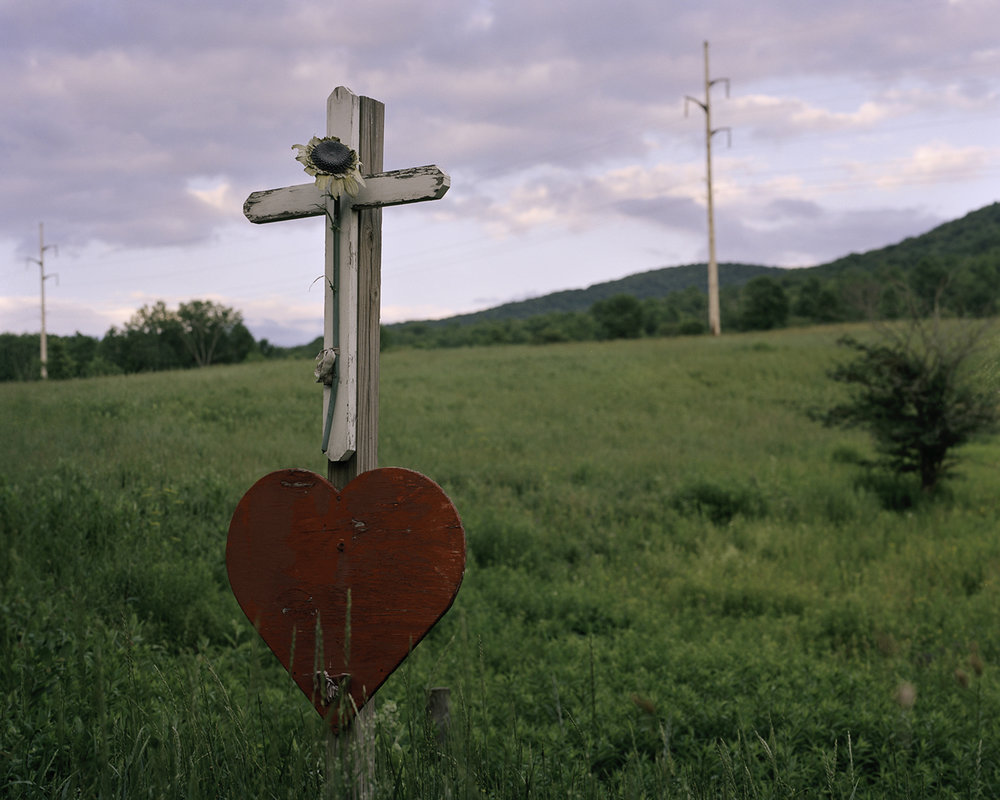 """""""Roadside Memorial."""" A Roadside Memorial down the road from Del-Rose Farm in South Kortright, NY. © Tess Mayer"""