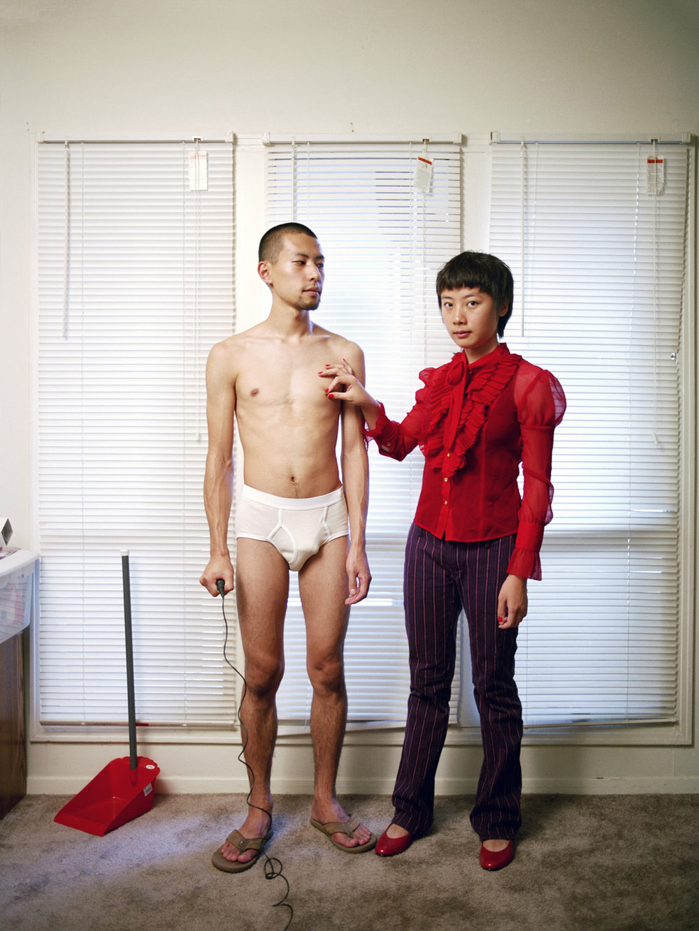 "Experimental Relationship © Pixy Liao  ""Relationships work best when each partner knows their proper place"""
