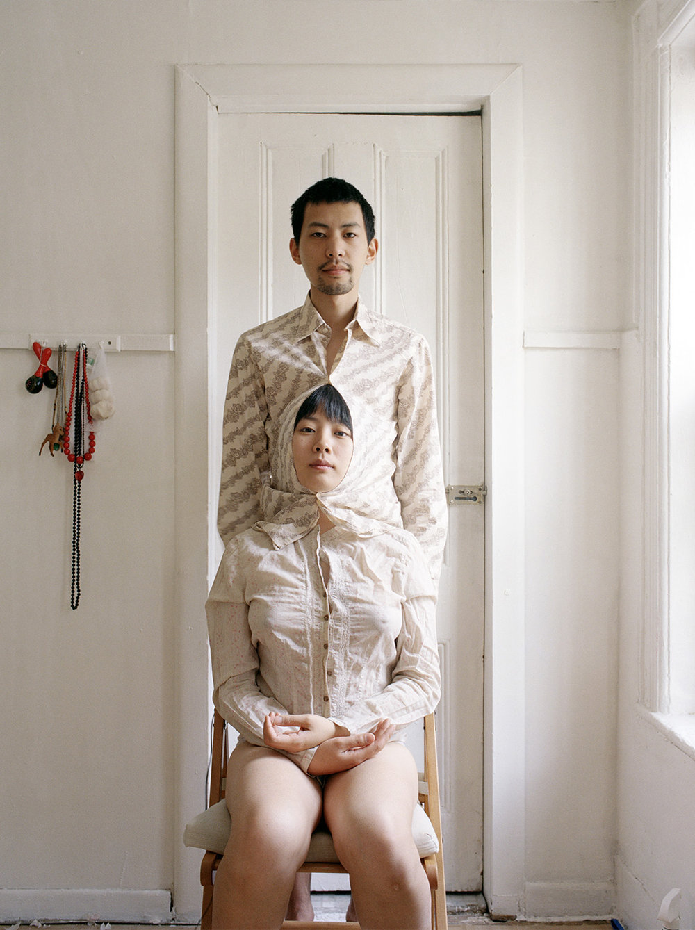 "Experimental Relationship © Pixy Liao  ""Try to live like a pair of Siamese twins II"""