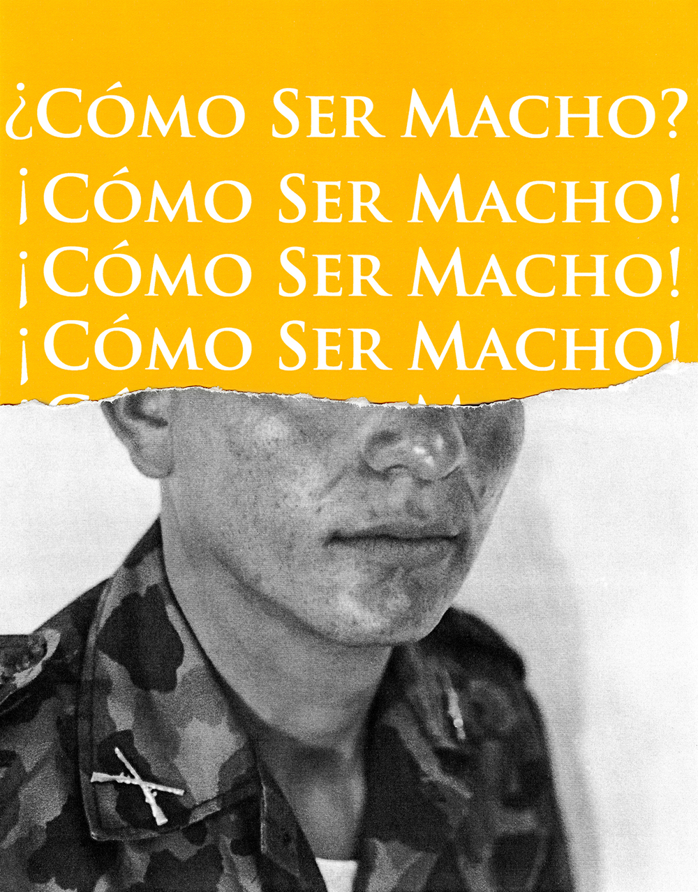 Como Ser Macho (Yellow), Fragments of the Masculine © Antonio Pulgarin