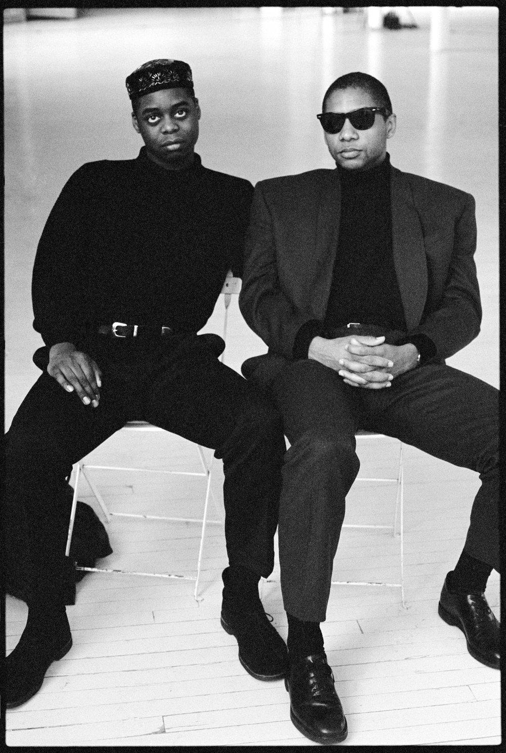 Courtney Pines and Bradford Marsalis, 1990, New York City © Arthur Elgort
