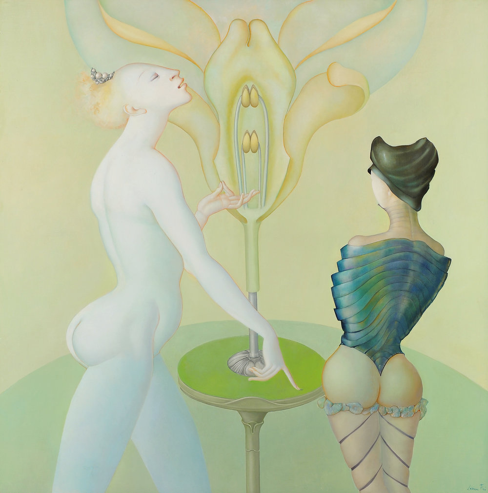 The Botany Lesson (La Leçon de botanique), 1974, Oil on canvas  Courtesy of Weinstein Gallery, San Francisco