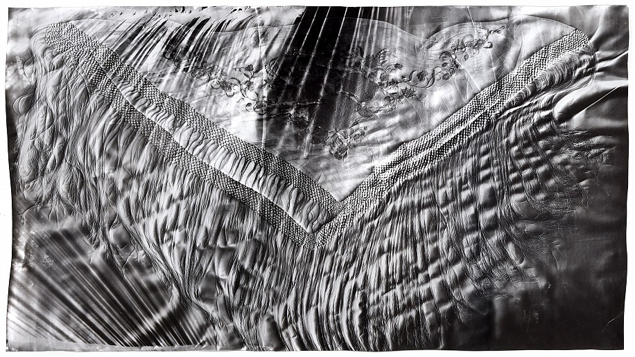 """Manton de Manilla (2),""   2017. Gelatin silver print; unique photogram with impression. Courtesy of Gitterman Gallery. © Klea McKenna"