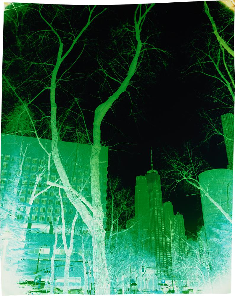 Saint James Place at Madison Street, Variation 2  , 2018. Negative Chromogenic Photograph  Collection of John Chiara. © John Chiara