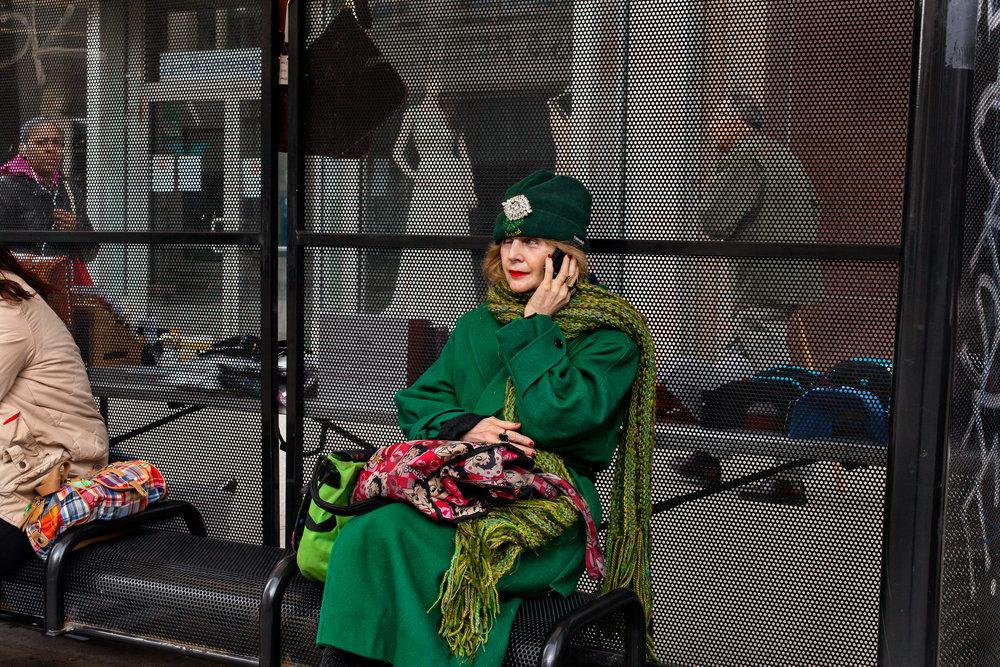 """""""Lady In Green""""   2016. Courtesy of Damiani Editore. © Niko J. Kallianiotis"""
