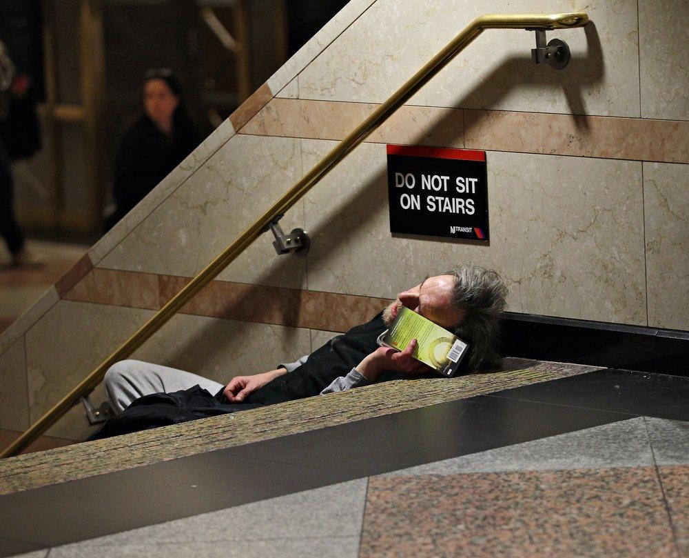 DO NOT SIT, Penn Station, NYC, 2012 © Lawrence Schwartzwald