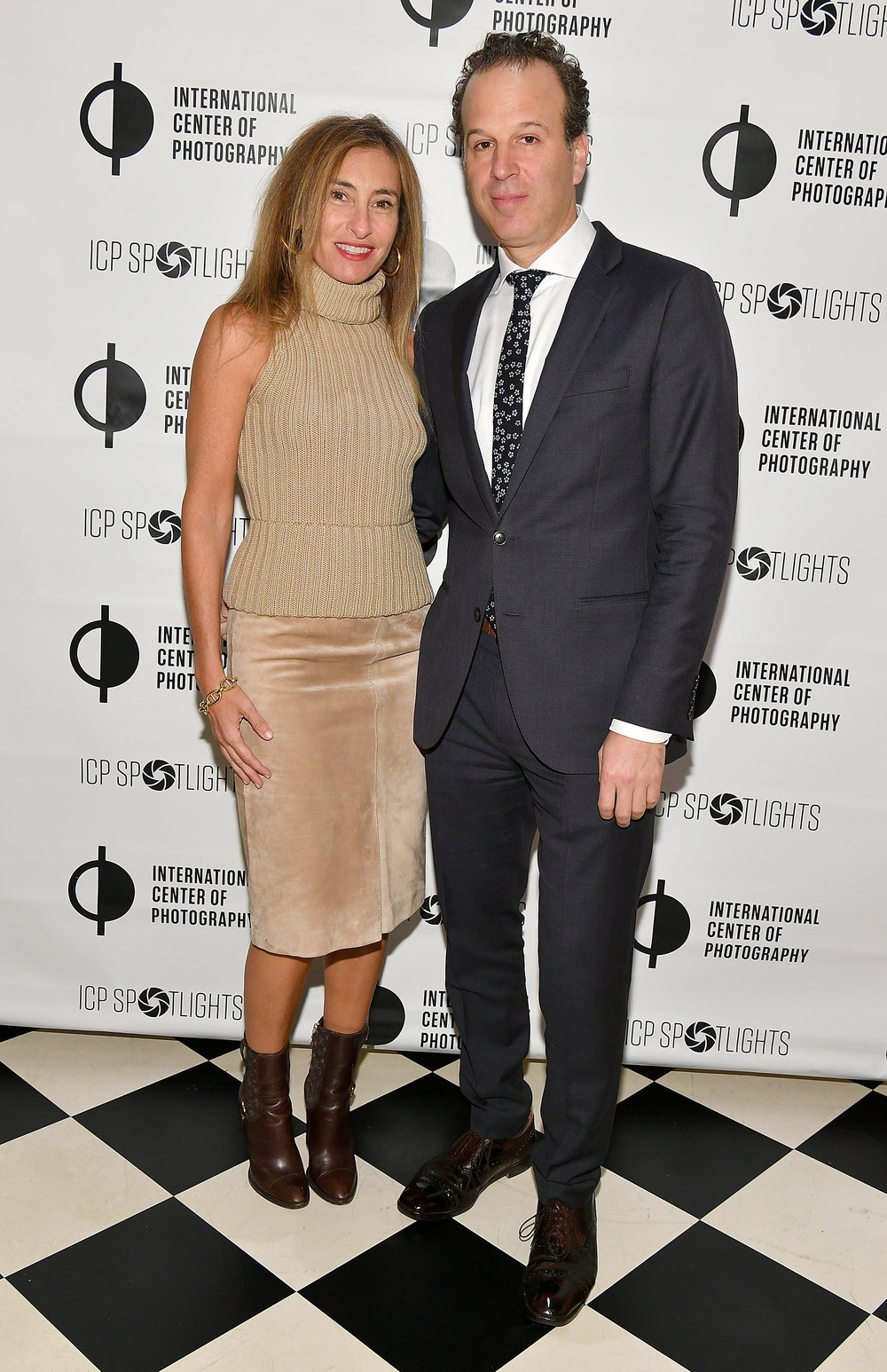 Debby Hymowitx and Mark Lubell attend the ICP Spotlights Luncheon Honoring Mickalene Thomas ©Getty Images for ICP