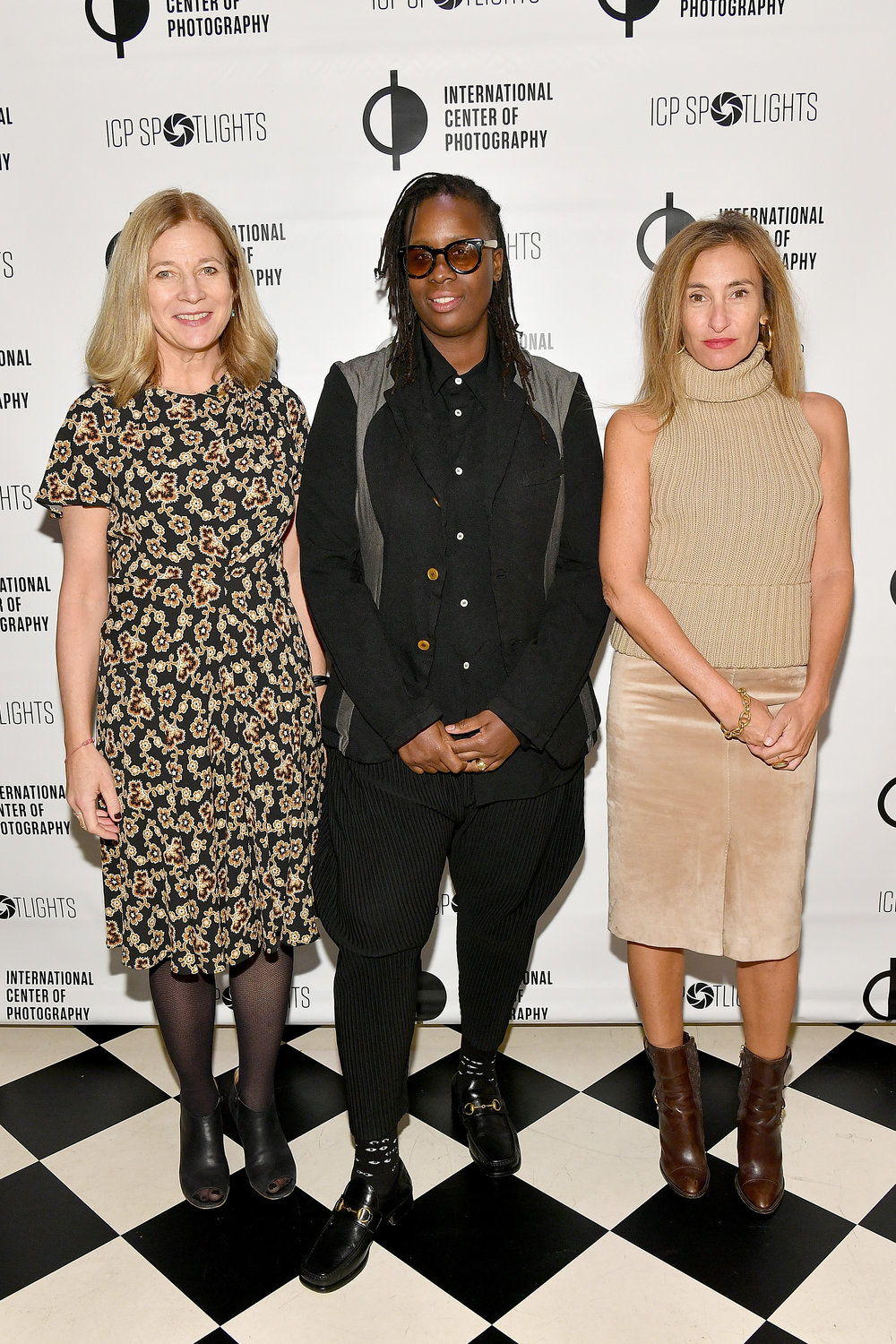 Peggy Anderson, Mickalene Thomas and Debby Hymowitz attend the ICP Spotlights Luncheon Honoring Mickalene Thomas ©Getty Images for ICP
