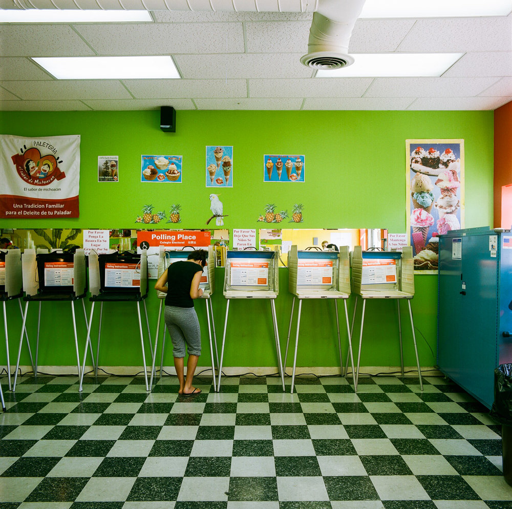 Image: © Ryan Donnell, The Polling Place Project, Paleteria, Chicago