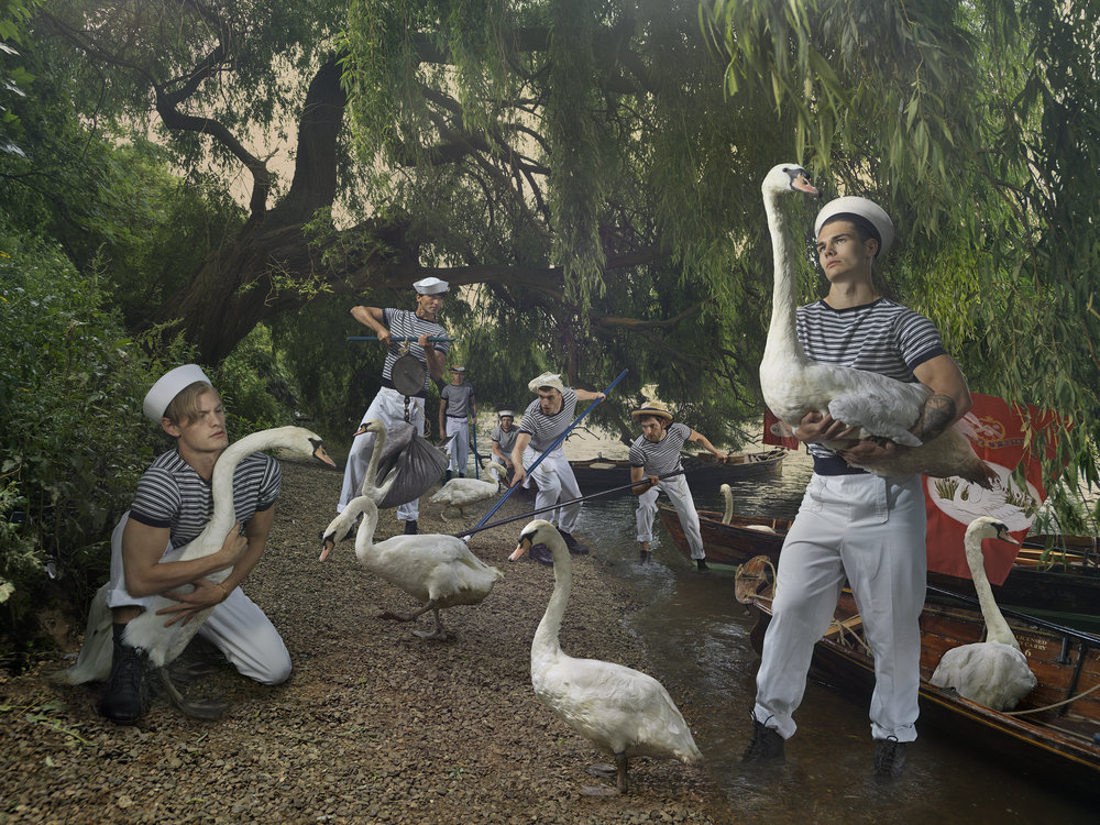 Old Father Thames: Swan Uppers, © Julia Fullerton-Batten