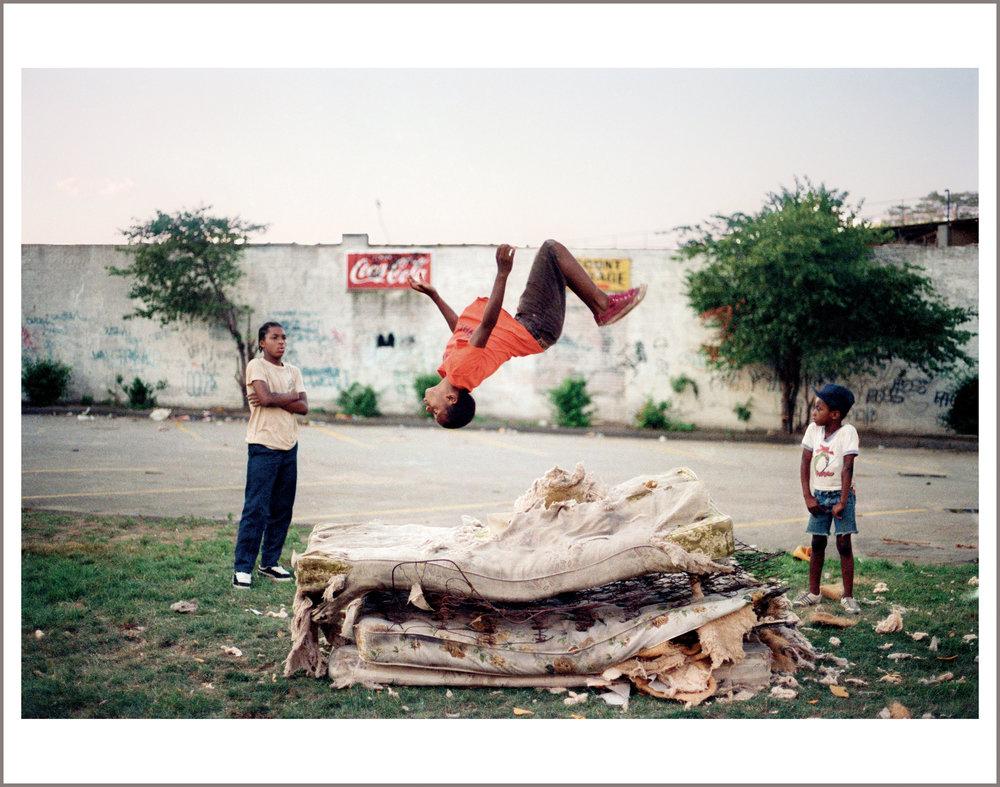 Flying High, Brooklyn, 1982 © Jamel Shabazz