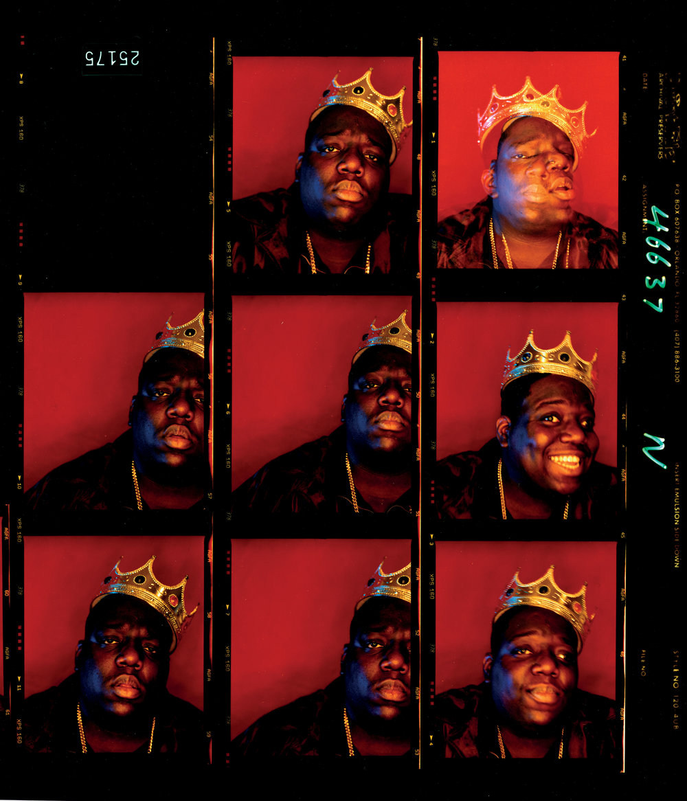"Biggie Smalls, ""King of New York"", Wall Street, New York, 1997 © Barron Clairborne"