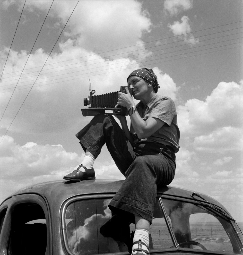 Dorothea Lange in Texas on the Plains, ca. 1935, the Oakland Museum of California. © Dorothea Lange