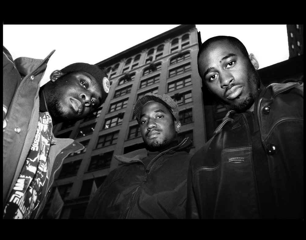 Tribe Called Quest. Courtesy of ©  Hip-Hop at the End of the World  by Ernie Paniccioli, Universe Publishing. 2018. Photography © Ernest Paniccioli.