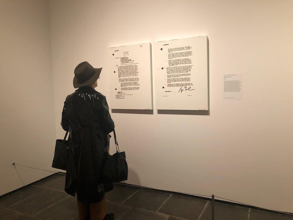 """Jenny Holzer """"The White House 2002"""" (2006). Oil on linen."""