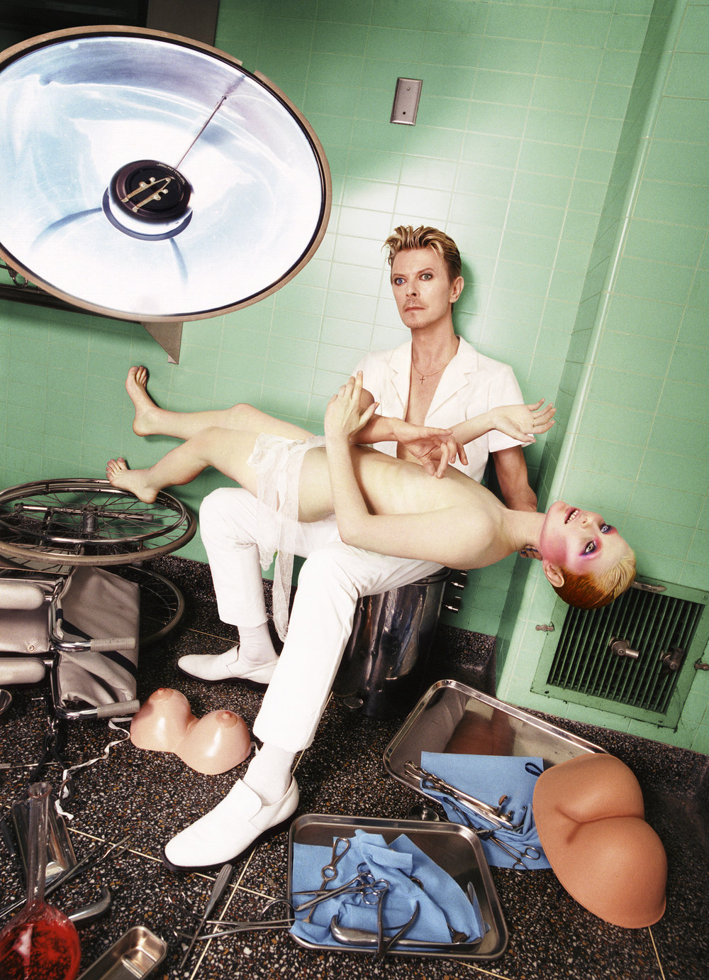 """""""David Bowie: Self Preservation, 1995"""". David LaChapelle. © David LaChapelle / Courtesy Staley-Wise Gallery, New York"""