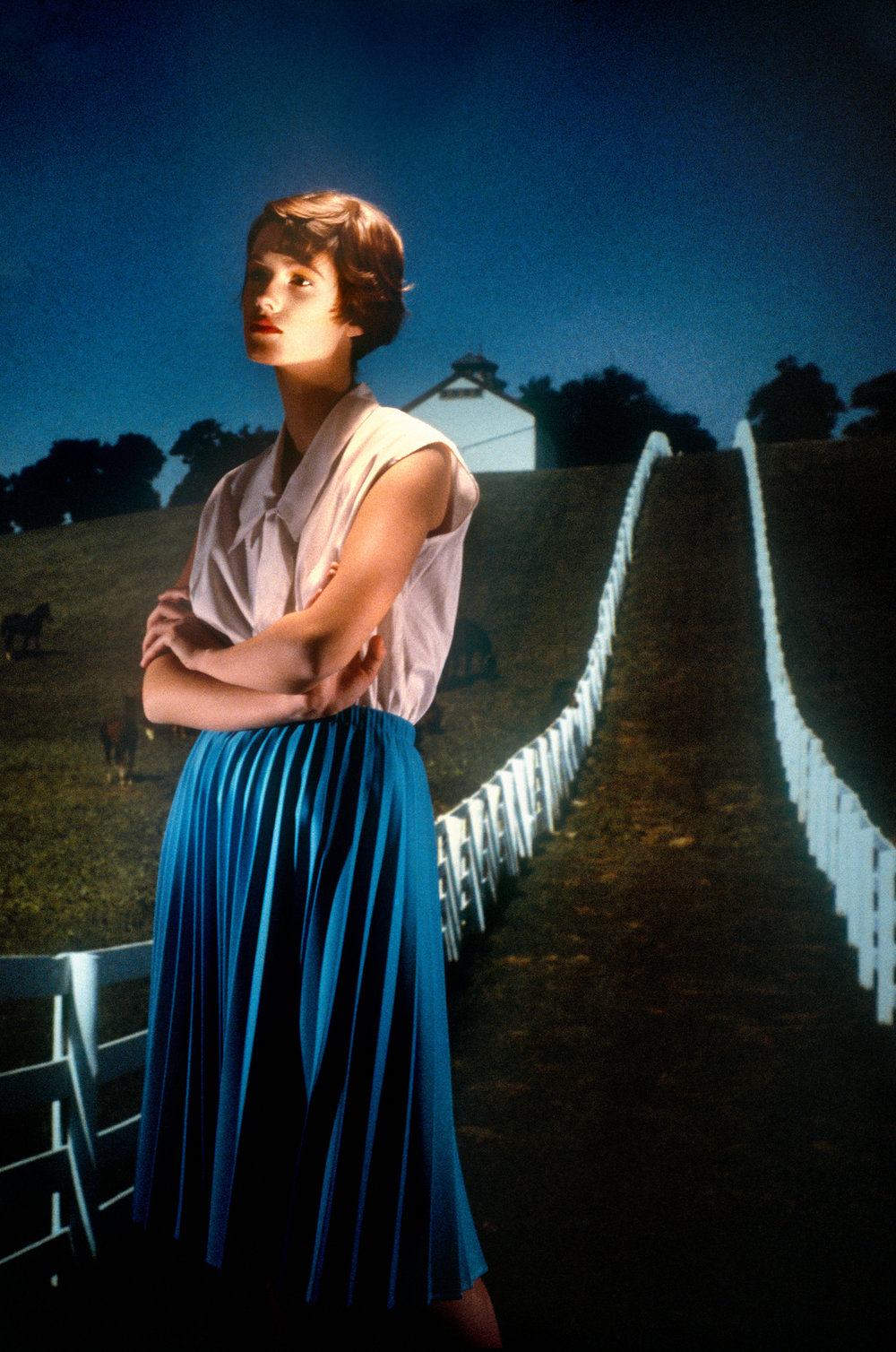 """Country Road: Kentucky"", 1984. Pigment   Print .  Laurie Simmons. © Courtesy of Laurie Simmons"