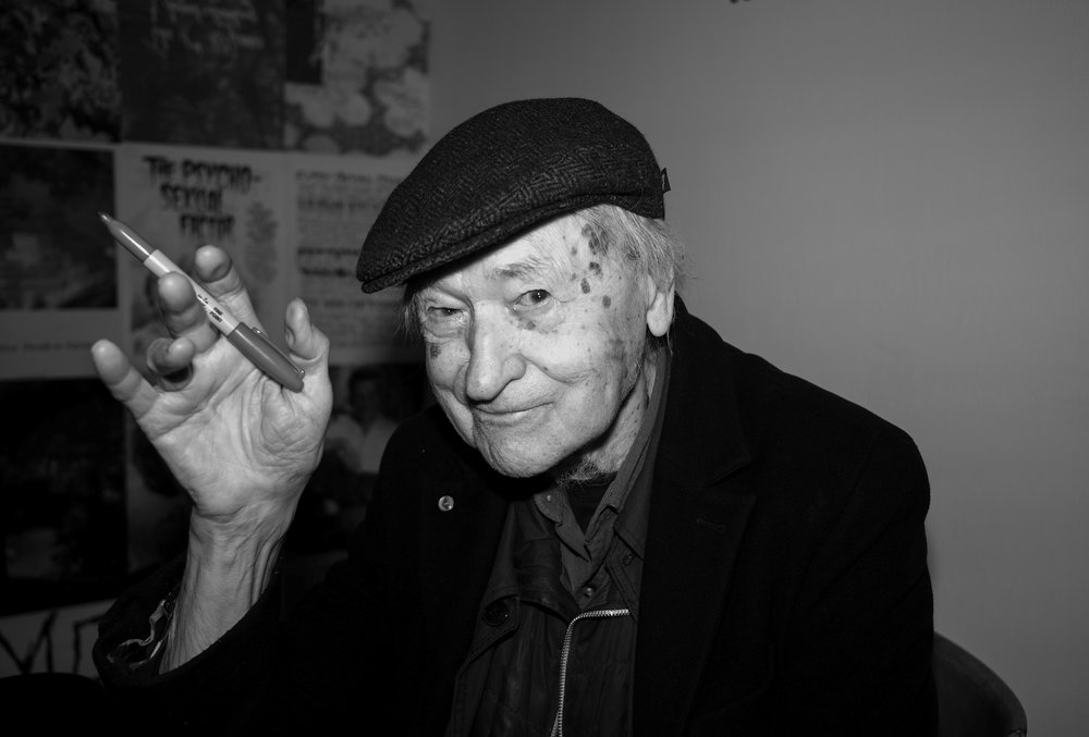 Jonas Mekas in Paris, 2018. Photography courtesy of Wei Gao.