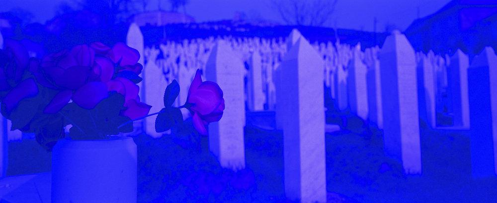 Lions Cemetery. Sarajevo, Bosnia 2004, © Ron Haviv.