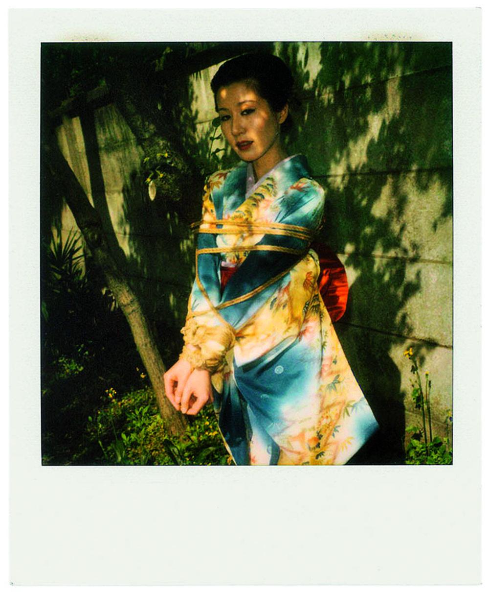 Kinbaku, 2010, Polaroid ©Nobuyoshi Araki . Courtesy artspace AM, Tokyo.  Impossible Love  by Araki, published by  Steidl