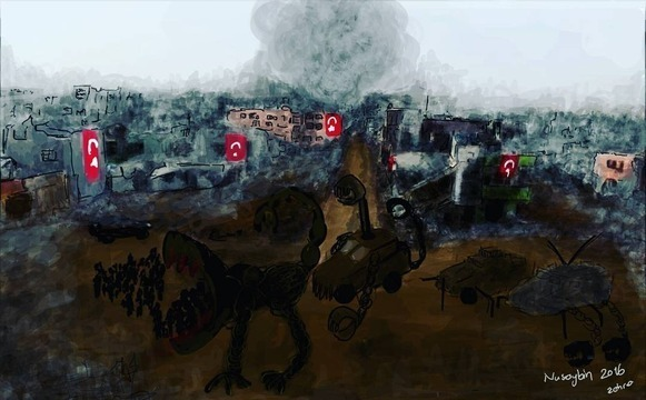 Painted by Zehra Doğan. Courtesy of ArtForum.
