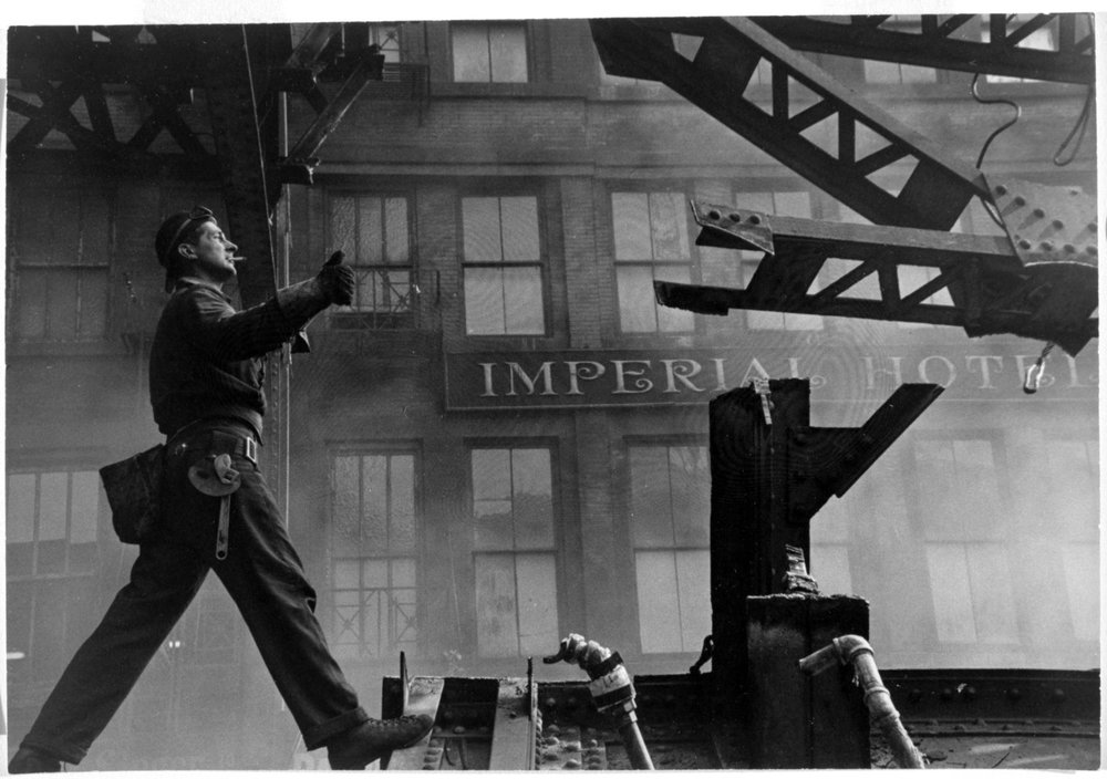 Vivian Cherry (American, born 1920).  Tearing Down of 3rd Avenue EL , 1955. Gelatin silver photograph, 8 7/8 x 13 1/4 in. (22.5 x 33.7 cm). Brooklyn Museum, Purchased with funds given by the Horace W. Goldsmith Foundation, Harry Kahn, and Mrs. Carl L. Selden, 1994.31.3. © artist or artist's estate