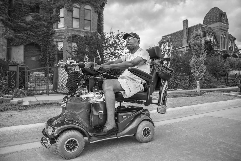 Lee Canady, 84. Former businessman and owner of Lee's Monroe Music, downtown Detroit's city center. © Janice Milhem