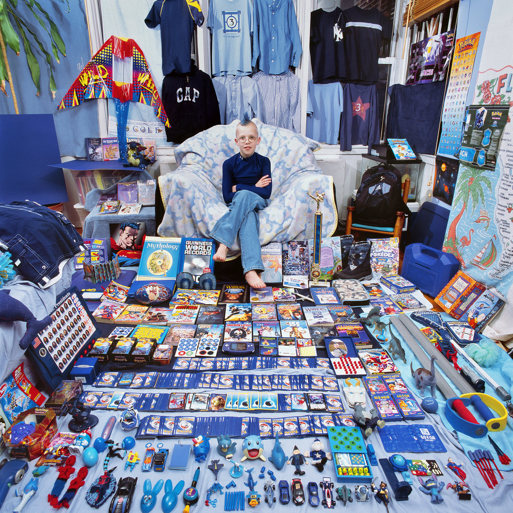 The Blue Project II-Cole and his Blue Things, New York, USA. Light jet print, 2009. ©JeongMee Yoon.
