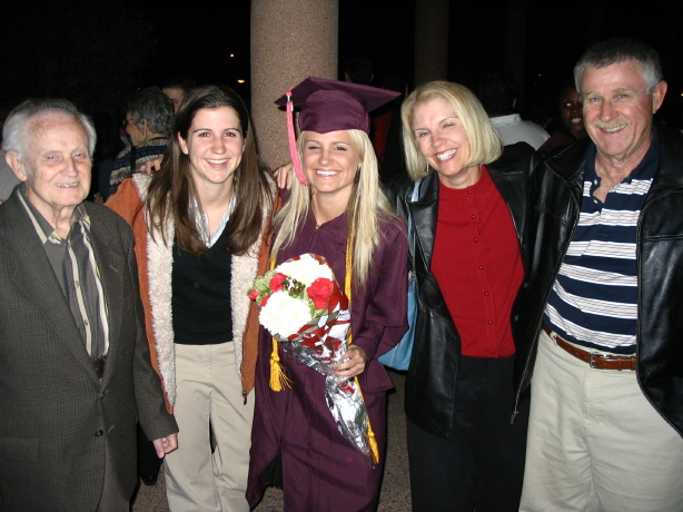 College graduation, with family. 2004