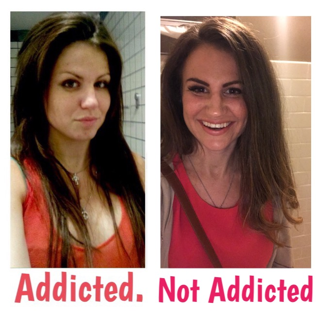 - This is a before & after. The first pic is of me in 2011, addicted. I was in sober living. I had just completed my first rehab and I had recently relapsed.I was pretending to be clean & happy, but addiction had it's hands around me. The after picture was at one of my best friend's wedding's in late 2017. I am free, happy. Pain is inevitable, but suffering is optional.